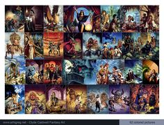 Clyde Caldwell Fantasy Art - 62 colored pictures 2