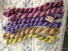 Ravelry: roseberri's Valley Yarns Charlemont, purples dyed with mulberries, greens with foxglove