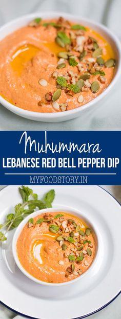 Lebanese Pecan Red Pepper Dip | Muhammara