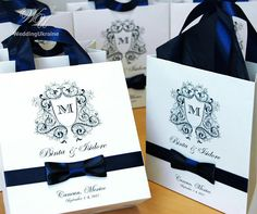 35 Chic Wedding Monogram welcome Bags for guests with Navy