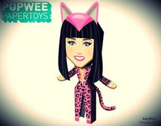 PAPERMAU: Katy Perry - Prismatic Tour Paper Doll - by Popwee Paper Toys