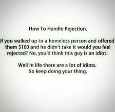 Moving Forward, How to handle #Rejection