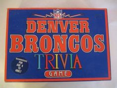 Denver Broncos Trivia Game by T.D. Marketing. How much do you know about the Bronco's? Sounds like a fun game.