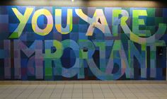 YOU ARE LOVED murals change the conversation about self-worth. Bring YAL to your community! Graffiti Wall Art, Murals Street Art, Mural Wall Art, School Murals, Art School, Group Art Projects, Leadership Roles, Collaborative Art, School Decorations