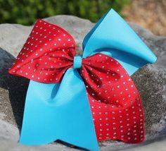 2-Tone Diamond Cheer Bow