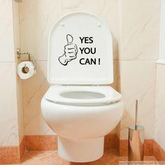 Déco : quand l'humour s'invite aux toilettes   Deco-ambiance #decoambiance #stickers #toilettes #wc #humour #deco #decoration