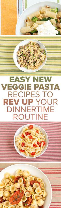 Easy vegetarian pasta recipes will rev up your dinner