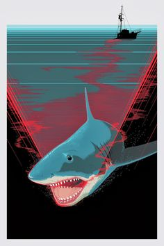 """Jaws - Craig Drake ---- Hero Complex Gallery presents """"Smile You Son Of A Bitch!"""""""