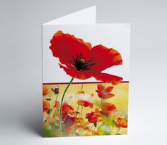 #Grusskarte Mohnblumenwiese Gift Cards, Invitation Cards, Xmas Cards, Invitations, Wedding