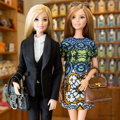 Tea for two! Grazie @eleonoracarisi for introducing us to Cha Tea Atelier.  #mfw #barbie #barbiestyle
