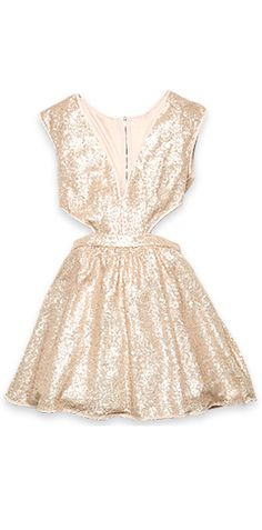 If I can find this dress in a really nice tone of rose gold, I could wear this as another outfit change!