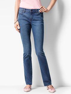 The Flawless Five-Pocket Straight-Leg-Seaside Wash - Talbots