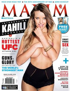 UFC octagon girl goes crazy on the cover issue of Maxim Magazine ...