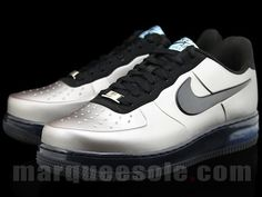 gray and blue foamposites nike air force 1 black white