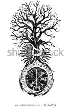 Find Viking Tree Traditional Vegvisir Historical Sun stock images in HD and millions of other royalty-free stock photos, illustrations and vectors in the Shutterstock collection. Thousands of new, high-quality pictures added every day. Norse Mythology Tattoo, Norse Tattoo, Inca Tattoo, Arte Viking, Viking Art, Viking Woman, Viking Tattoo Sleeve, Sleeve Tattoos, Kreis Tattoo