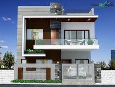 2 Storey House Design, House Gate Design, Duplex House Design, Kerala House Design, House Front Design, Two Storey House Plans, Modern Small House Design, Modern Exterior House Designs, Modern House Facades