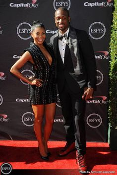 Miami Heat star Dwayne Wade and actress Gabrielle Union on the 2013 ESPY Awards red carpet at #NokiaTheater.    #DwayneWade #GabrielleUnion #LALive #ESPYs