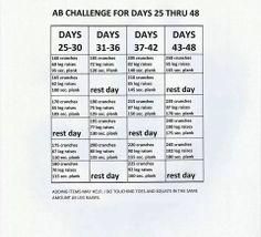 Brazen Fit Ab Challenge Days 25- 48
