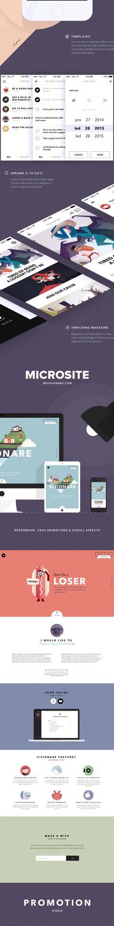 Visionare IOS Mobile App by Pavel Novák, via Behance