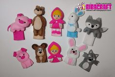 Masha and the bear finger puppets