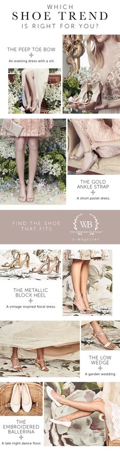 Which Shoe is Right for You?    The Wedding Boutique Magazine by LE CHÂTEAU