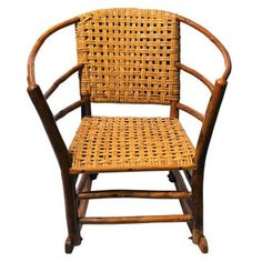 Check out this item at One Kings Lane! American Old Hickory Barrel Chair