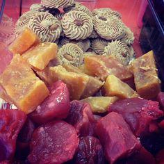 Mexican sweets at Taqueria el Mexicano in Little Havana (Miami, FL): dulce de leche, calabaza & camote