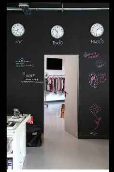 chalk board wall for scribble to share