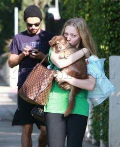 Amanda Seifried and her cut boyfriend..haha
