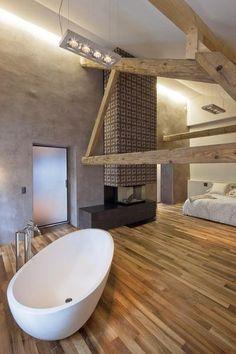 Slaap- en badkamer