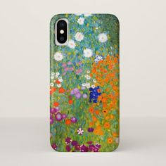 Flower Garden by Gustav Klimt Vintage Floral iPhone X Case