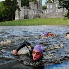 Triathlon past a castle...?  Seriously?  I'm in