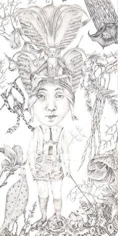 Lori Field - Silverpoint drawing