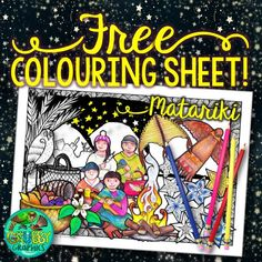 Best Matariki books for Primary {+ FREE follow up activity sheets & colouring sheet} Colouring Pages, Coloring Sheets, Kids Outdoor Play, Activity Sheets, Primary Colors, Activities For Kids, Teaching, Books, Crafts
