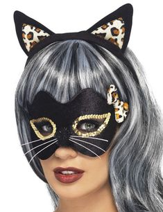 Buy Kitty Eye and Ear Set for Cat fancy dress costumes. Browse our Halloween accessories, Animal costumes & Cat fancy dress accessories with Fast Delivery. Halloween Masks, Halloween Face Makeup, Adult Halloween, Cat Fancy Dress, Mascaras Halloween, Lady Midnight, Fancy Dress Accessories, Halloween Costume Accessories, Black Headband