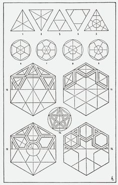 "// ""A Handbook of Ornament"" 1898 by Franz Sales Meyer  --Geometric shapes inspired our Sympathia Collection @ tamwim.com--"