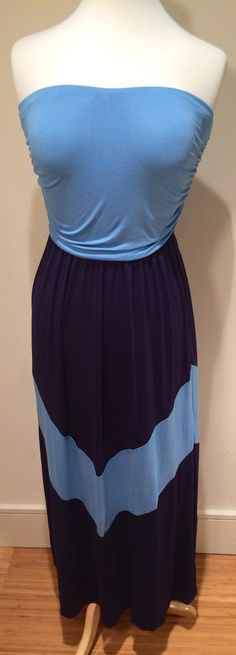 Jersey maxi in blue! $53 Chevron Cool