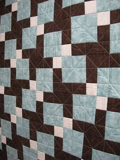 geometric 3 color disappearing nine patch lap quilt (moda shangri la) – just a gorgeous looking quilt. love the colours and subtle pattern. great for living room or bedroom.