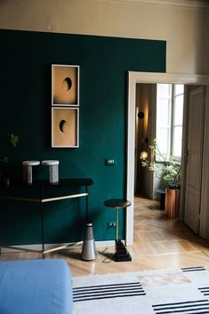 """A Midcentury """"Magical Fairy"""" Bedroom Project Intro + A Completely Reversible Paint Trend We're Trying - Emily Henderson Home Design, Fairy Bedroom, Bedroom Wall, Magical Bedroom, Bedroom Rugs, Bedroom Green, Bedroom Colors, Bedroom Decor, Home Interior"""