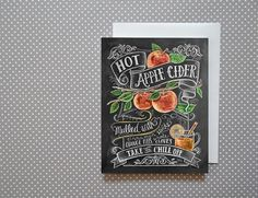 Boxed Set Of 8 Autumn Note Cards  Apple Card  Apple by LilyandVal, $20.00