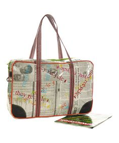 Perfect for a chic gal on the go, this stylish bag fits all the day's essentials from an engrossing novel to a water bottle and wallet.16'' W x 11'' H x 5'' DCotton / polyesterImported