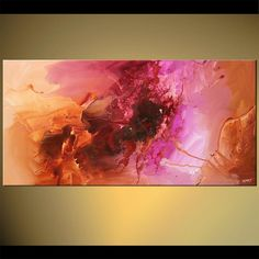 beautiful abstract painting colorful soft colors