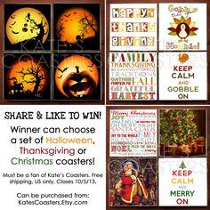 Win a set of 4 coasters! Closes 10/3/13. Click photo to enter.