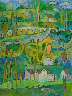 """My newest favorite artist discovery is Jane Filer . As soon as I saw one of her paintings on the """"Artist of the Day"""" Wiget on my iGoogl..."""