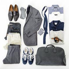 minimal luggage for men. nice.