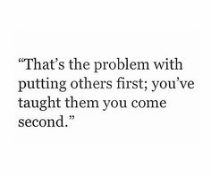 Learn to put yourself first!