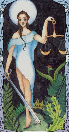 Justice - Tarot of a Moon Garden
