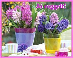 JÓ REGGELT! - donerika.lapunk.hu Glass Vase, Table Decorations, Spring, Flowers, Plants, Home Decor, Decoration Home, Room Decor, Plant
