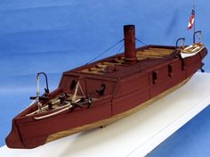 """96-004 C.S.S. Arkansas: 1/96th Scale Approx. 24"""" long overall. Now you can start building ironclads from the Western Theatre of the American Civil War. This kit features resin and metal fittings, a…"""