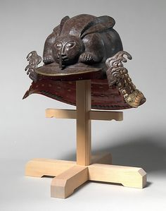 Japanese samurai helmet in the shape of a crouching rabbit, 17th century
